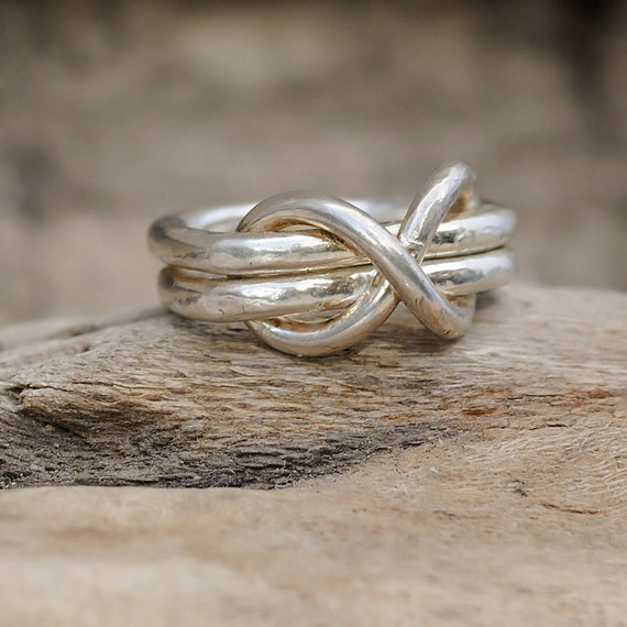 Infinity Ring - Infinity Knot Ring  - Silver Infinity Ring - Fine Silver Infinity Ring