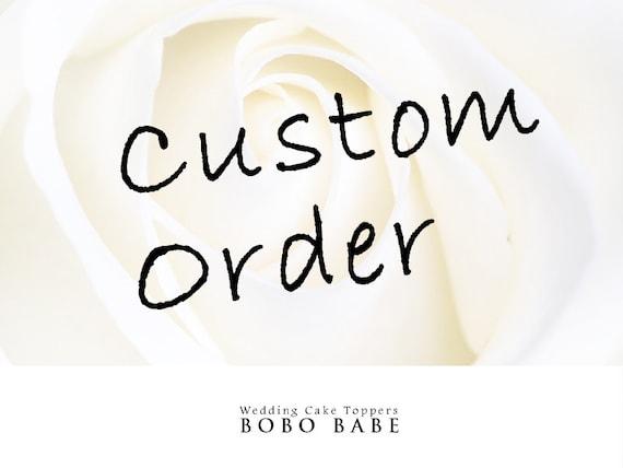 Custom Order Wedding Cake Topper For Adrianne Royce