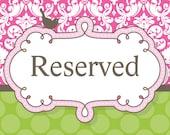 Jan's Reserved Order