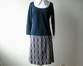 Vintage Schoolgirl Navy Blue Dress