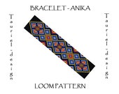Loom pattern - native american inspired bracelet pattern - Anika