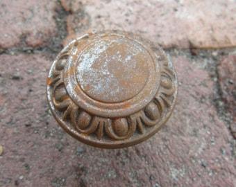 Antique Door Knob Metal Ornate Antique Door Knob Door Handle Metal for Art Crafts Altered Art Wedding Rustic Primitive Display Old