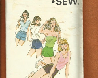 Vintage 1980s Kwik Sew 1068 Running or Disco Shorts Sizes XS to L UNCUT