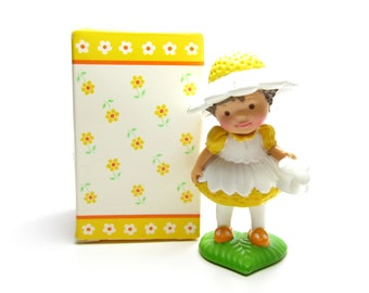 Avon Daisy Dreamer Mini Doll Vintage 1980s Little Blossom Toy in Original Box, Girl with Watering Can