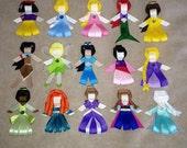 You pick 3 Disney Princess Hair Clips