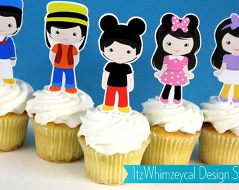 Kids Funny Clubhouse Die Cut Cupcake Topper (One Dozen)
