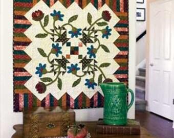 Bloomin' Baskets a folk art applique quilt. Pattern only 2.99