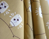 ORGANIC Jars in Gold by Designer Teagan White - Fort Firefly Collection from Birch Fabrics - ONE YARD Cut