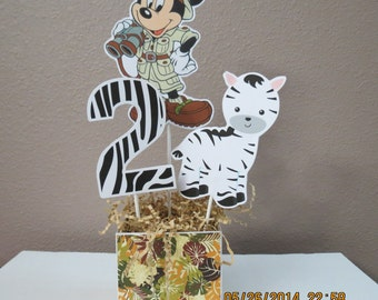 Safari Mickey Mouse Centerpiece (DIY)