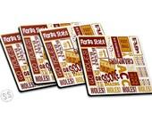 FSU Coasters - Set of 4 - Football - FSU Noles Coasters - Sports Coasters -Noles Set of Coasters - Great Gift Idea