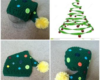 Crochet Christmas Tree Stocking Cap