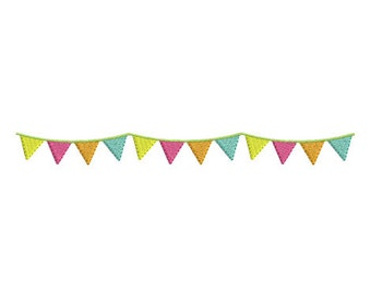 Instant download garland of flags  embroidery design machine