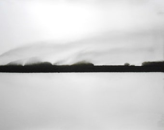 "A1 OOAK Original Philosophical Black & White Ink Wash Painting 23.4x33.1"" Philosophy 521"""