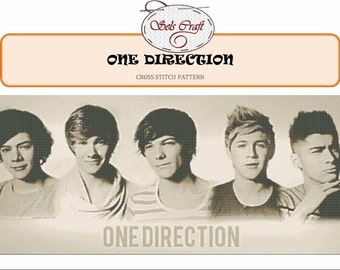 ONE DIRECTION cross stitch pattern