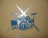 3D Lighted Reading Light Drum Set & Sticks Personalized with Initials and Choice of 2 Colors