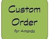 CUSTOM ORDER for Amanda - Art Roll for Crochet Hooks with Flap