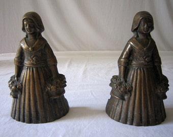 Vintage Bronze Bookends, Maidens