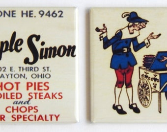 Simple Simon Pies Fridge Magnet Set