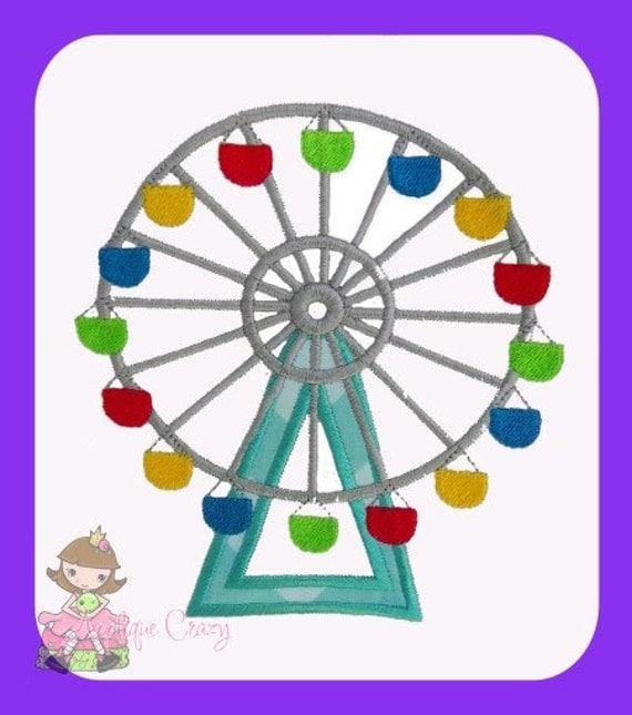 Ferris Wheel Applique design