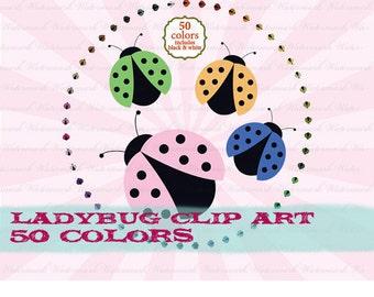 Ladybug clip art ladybug clipart ladybug digital clipart : c0281 v301 50
