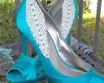 RHINESTONE Bridal Shoe Clips,Crystal Shoe Clips, Wedding Shoe Clips, Bridal Shoe CLips, Clips for wedding shoes, bridal shoes