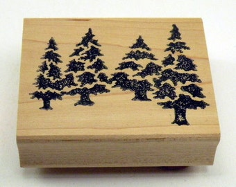 Pine Trees Rubber Stamp