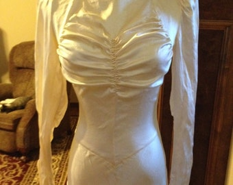 CLEARANCE!!!! Luscious 1930s Liquid Satin Wedding Gown