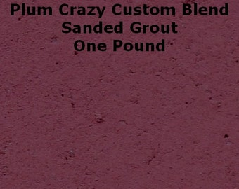 Mosaic Grout 1 Lb. Plum Crazy Purple SANDED Grout One Pound