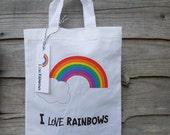 I Love Rainbows novelty bag