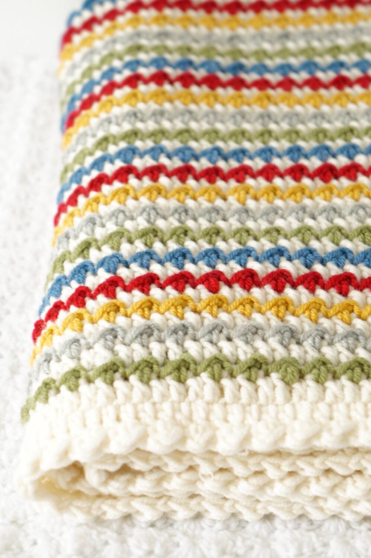 Crochet Blanket Pattern Afghan Tutorial Textured by ...