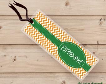 Chevron - Bookmark, Personalized Bookmark, Personalized Bookmark, Kids Bookmark