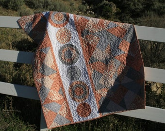 Orange and Gray Lap Quilt