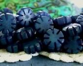 Buri Nut Beads, Buri Seed Beads, Natural Buri Nut Beads, Buri Palm Nut Beads, Flower Beads  NAT-179