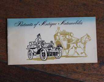 Vintage Booklet - Portraits of Antique Automobiles by Collector's Prints (Clarence P. Hornung)