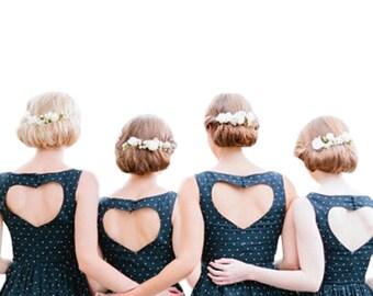 Custom Made Cotton, Linen, Bridesmaid Dress, Bridesmaid Dresses