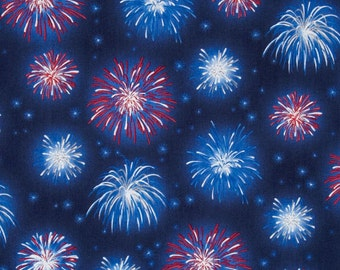 SALE - Quilting Treasures - A Nation's Song by Studio 8 - Fireworks