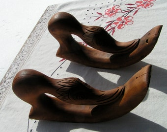 40s Carved Wood Duck Goose Chair Arms REPURPOSE Supply