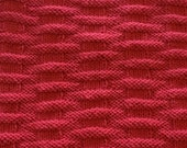 WINTER SALE - Hand Knit Baby / Toddler Blanket - Deep Coral