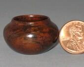 Guatemalan Rosewood Turned Wood Miniature Pot