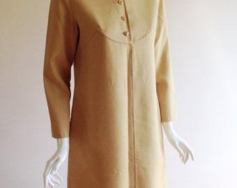 1970s Bill Blass Neutral Tunic Dress