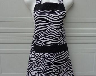 Apron: Zebra