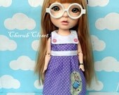 Set for Koo Dolls: Dress with sailor collar + Bloomers