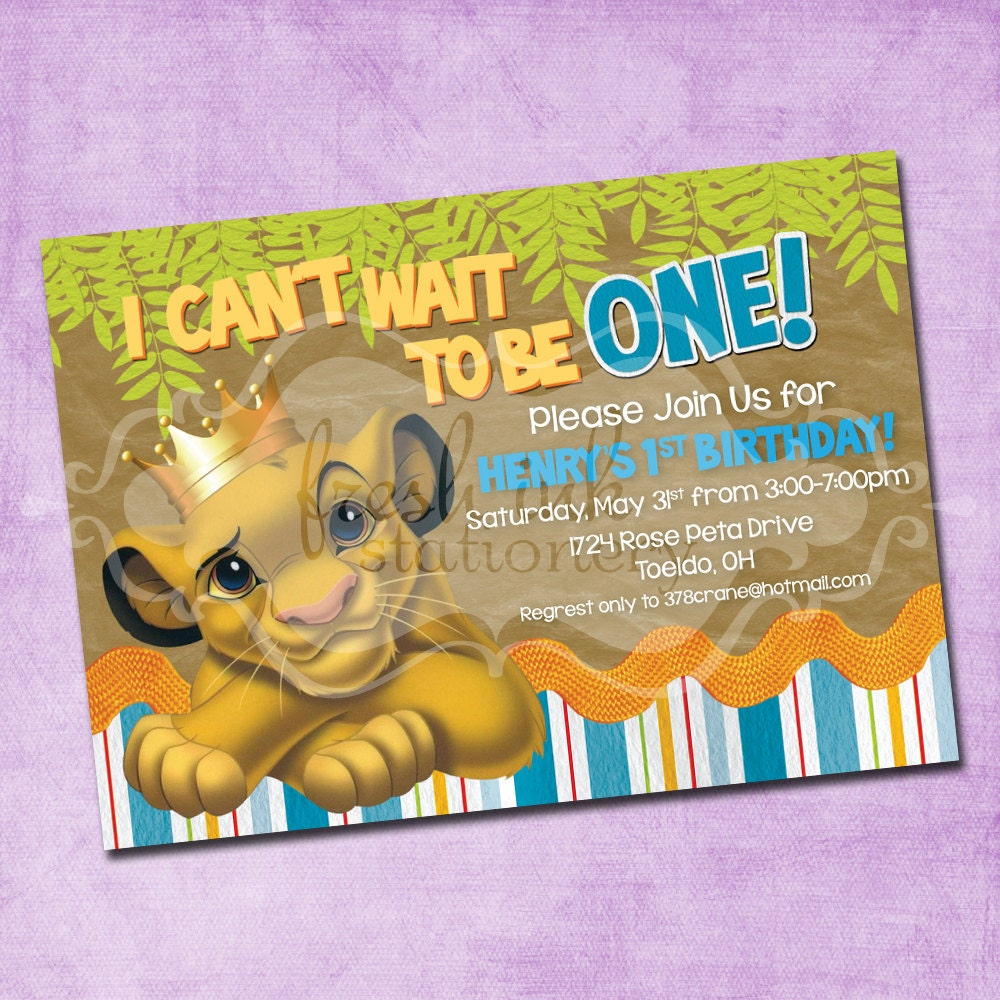 Lion King Birthday Invitations can inspire you to create best invitation template