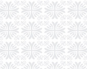 Floral Fabric, Moonflower by Quilting Treasures, Floral Fabric, Gray Fabric, 02247
