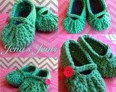 Mary Jane Crochet Baby Booties  Copy