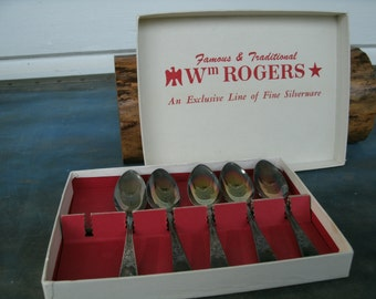 Antique William Rogers Small Silver plate Spoons