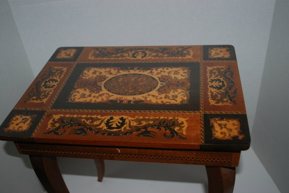 Sale Music Table Italian Inlaid Wood Table With By