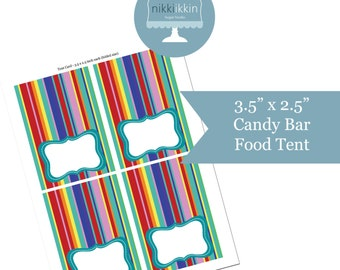Instant Download - Candy Bar Party Food Tent