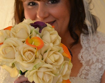 CUSTOM Real Touch & Silk Wedding Floral Services - Any color, package size, flowers made to order just for you