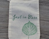 Set of 10 Just In Case Destination Wedding Welcome Kit Muslin Drawstring Bags